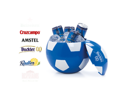 Pack futbolero: cuatro cervezas (33cl.) y cubitera de regalo por solo