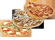 El triple de Telepizza: 3 medianas(hasta 5 ingr.) por 7€ cada una