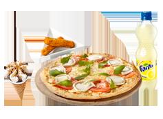 Menú Individual grande Pizza Especialidad
