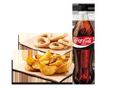 Completa tu pedido con 1 refresco (1L) y un complemento por