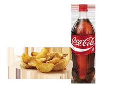 Completa tu pedido con 2 refrescos (1L) y un complemento por