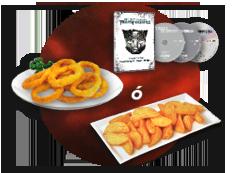Patatas gajo o Aros cebolla + Trilogía transformers