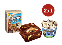 2x1 en Tarrinas B&Js (150 ml.) y Multipacks Mágnum o Cornetto