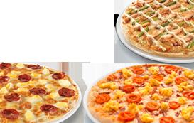 3 pizzas médias (até 4 ingr)