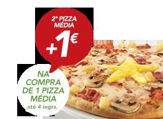 Na compra de pizza média (4 ingr), 2ª pizza Estrela por +1€