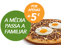 Pizza Familiar até 4 ingrs por: