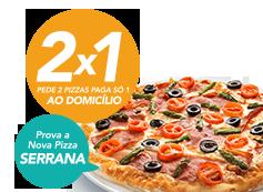 2x1: Pede 2 pizzas médias e paga só 1