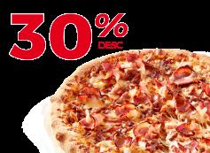 Exclusivo Online: Desconto de 30% em Pizzas pequenas, médias e familiares!