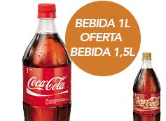 Bebida 1L com oferta de Bebida 1,5L