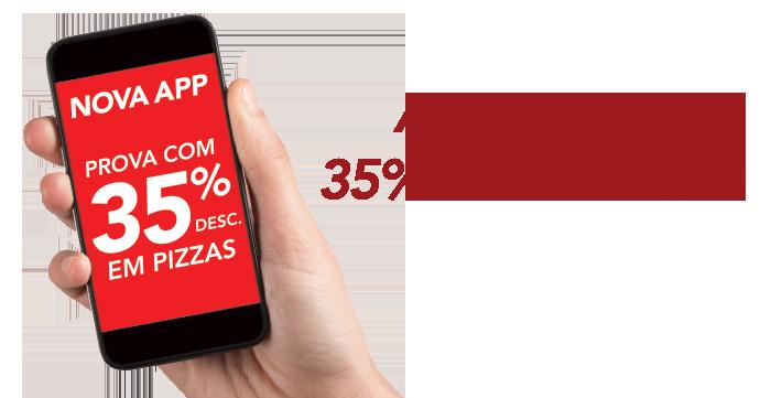 35% de desconto em pedidos na app